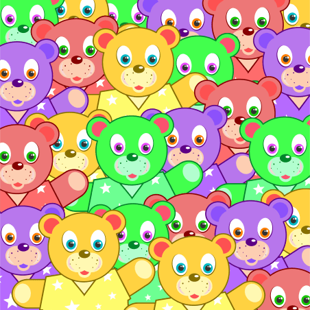 Multicolored Teddy Bears Background by GDJ
