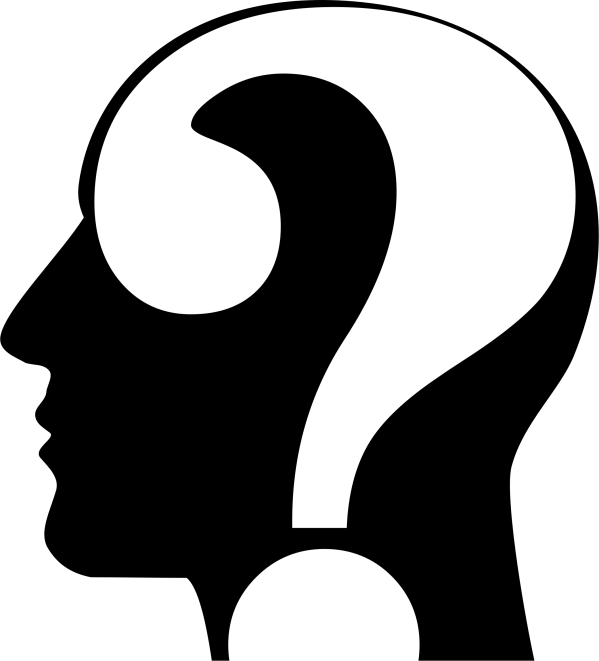 Clipart - Question Head Silhouette