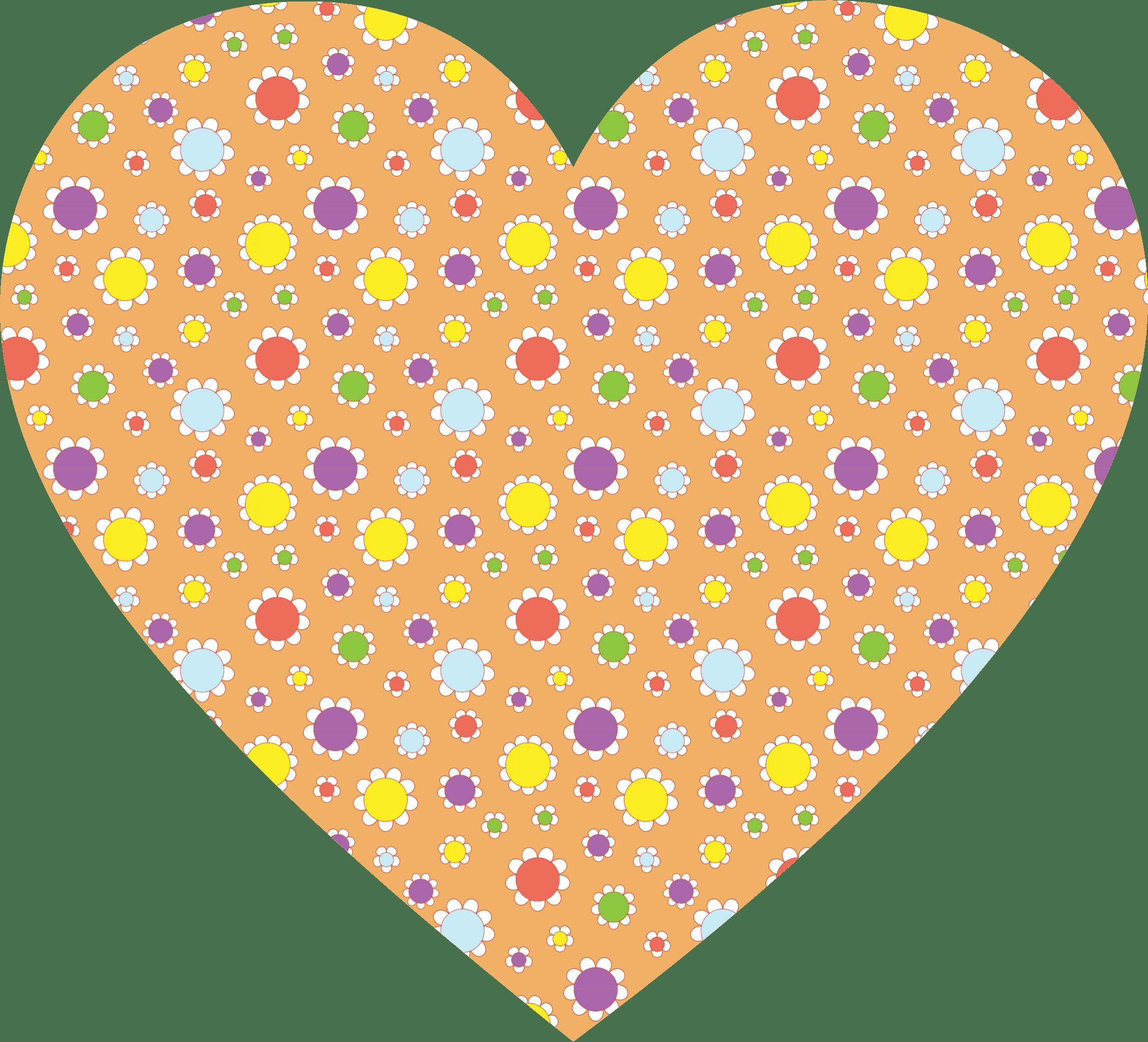 Clipart Cute Floral Heart