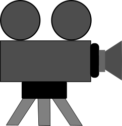 Movie Camera by schoolfreeware -