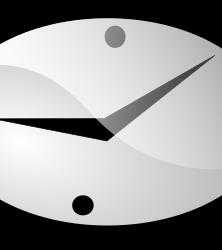 clock by shokunin - simple cartoon clock with ten past nine on the clock