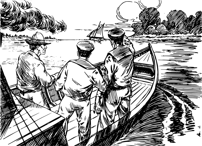 New England Ship Drawing
