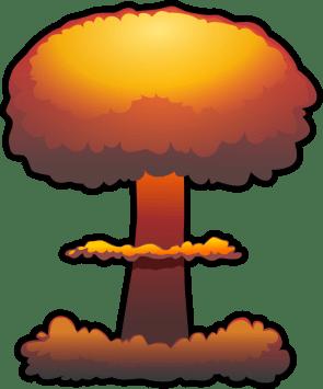nuclear explosion by tzunghaor - atomic bomb, bomb, clip art, clipart, explosion, explosive, mushroom cloud, nuclear, nuke, weapon,