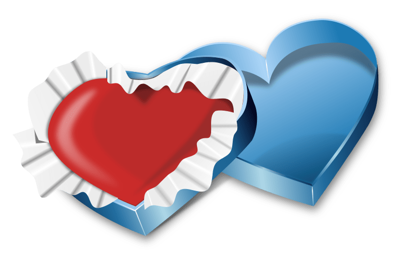 Clipart Valentines Day Heart In A Box
