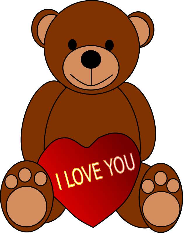 Clipart Valentines Day Teddy Bear