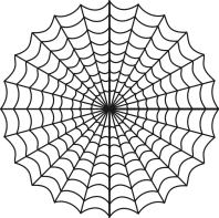 Circular spider web representing web development resources