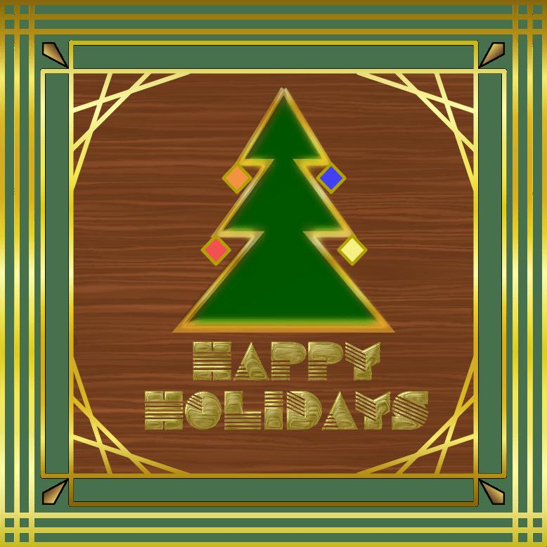 Clipart Art Deco Holiday Card