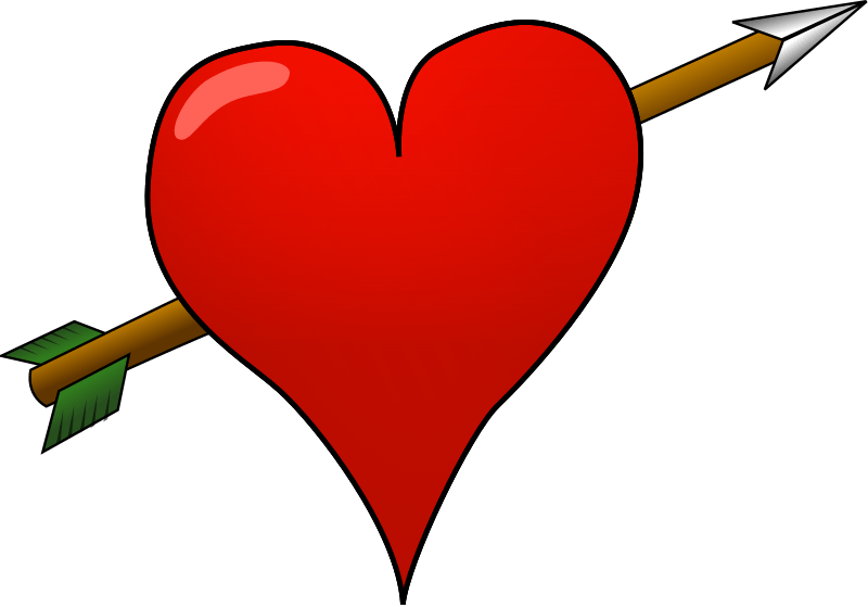 Clipart Pierced Heart