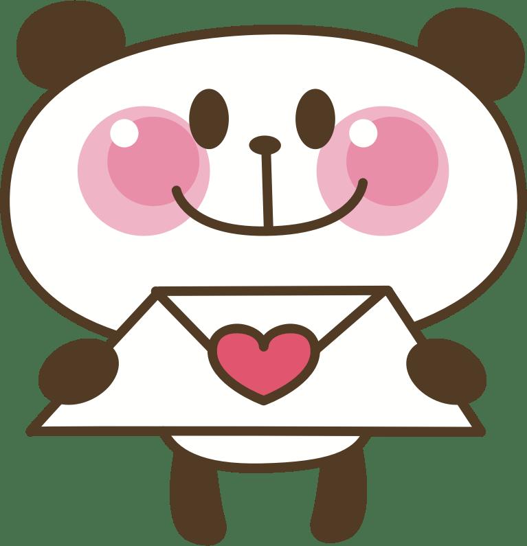 Clipart Panda Love Letter