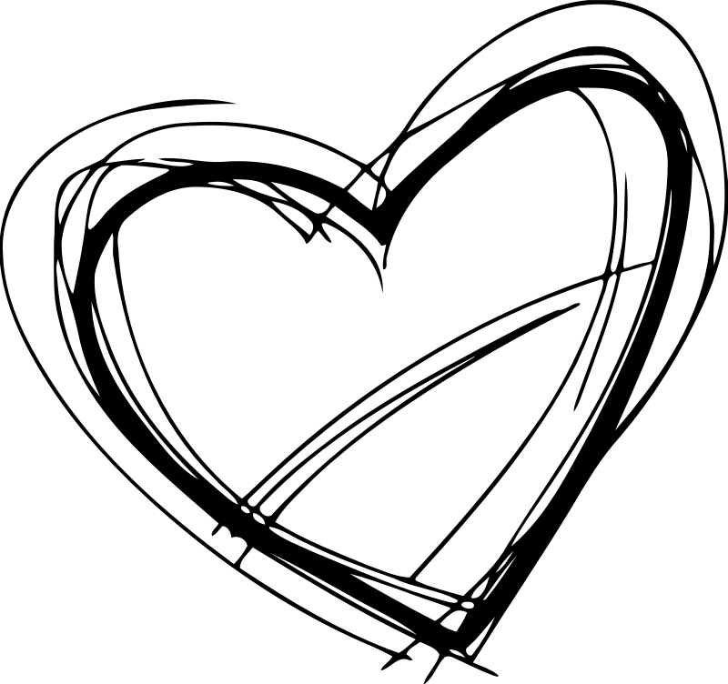 Clipart Sketched Heart