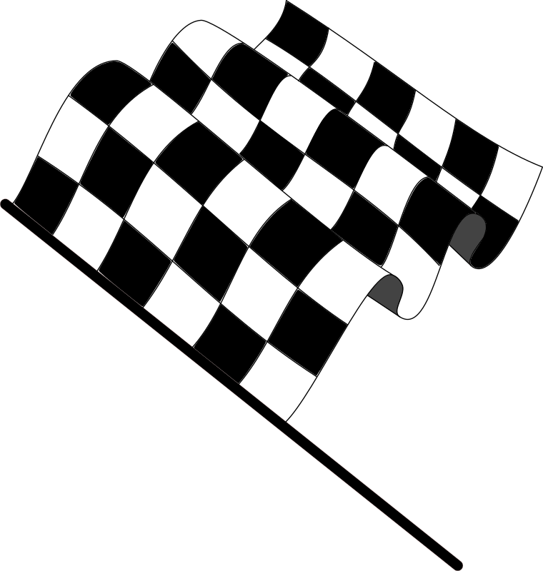 Wavy checkered flag from open clipart.com
