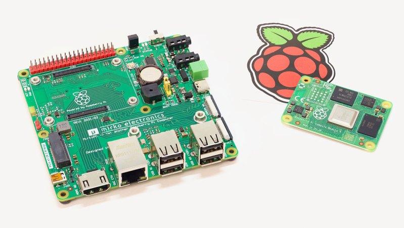 MirkoPC with raspberry pi compute module 4