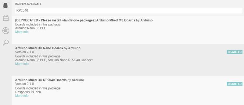 Official Arduino RP2040 cores