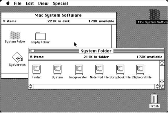 old skool mac user interface