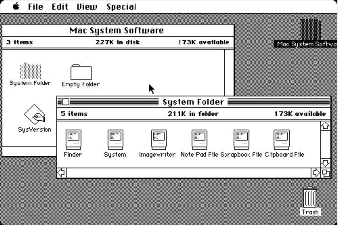 old skool mac user interface