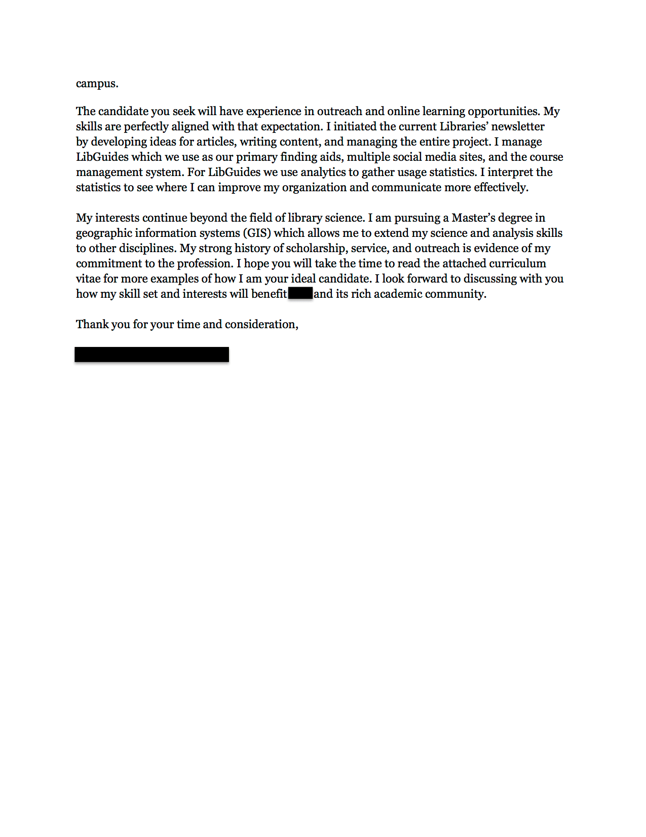 Assistant Librarian Cover Letter