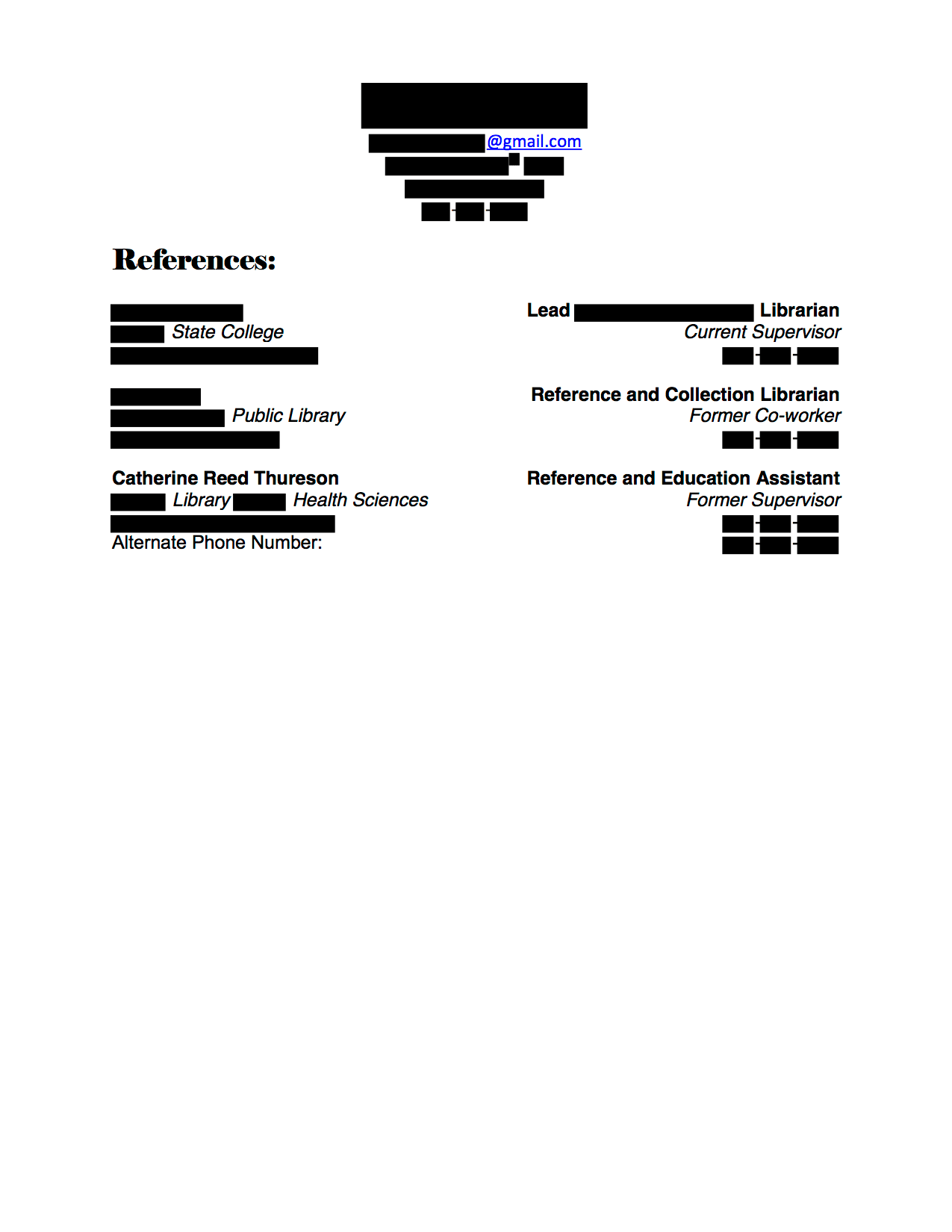 Electronic Resources Coordinator Cover Letter And Resume