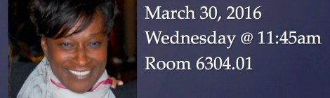 Join us for Brown Bag Seminar with Gina Philogene this Wed, 3/30