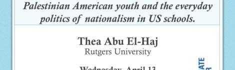 Join us for Brown Bag this Wednesday 4/13 with Thea Abu El-Haj