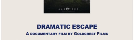 Documentary screening April 23rd: Dramatic Escape