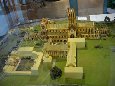 scale model of the abbey