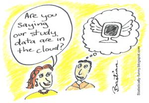 Cartoon of missing study data