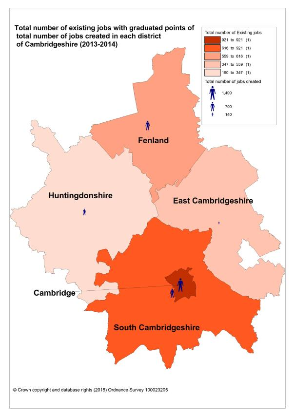 Total number of existing jobs-Cambridgeshire