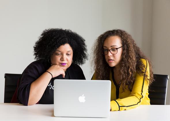 Women in cyberspace.