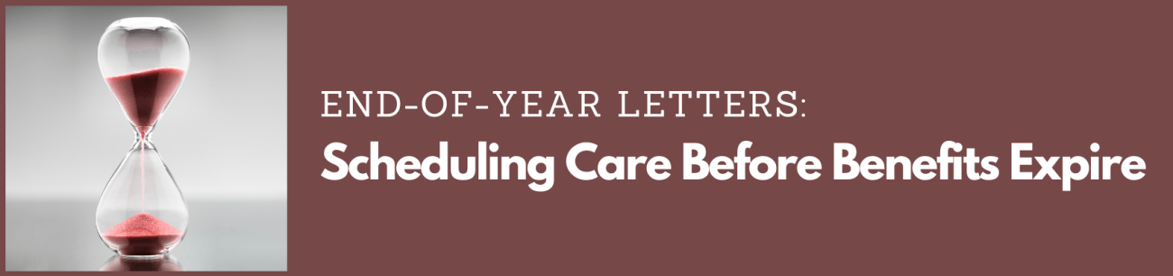 end-of-year letters before benefits expire