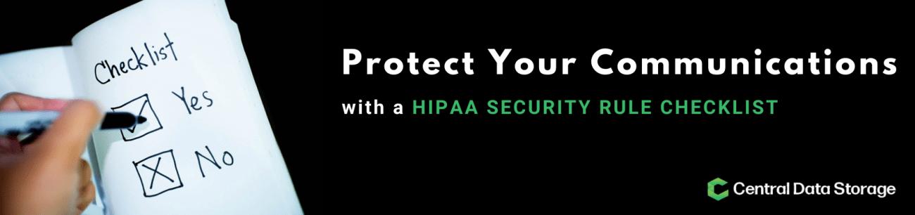 HIPAA Security Rule checklist
