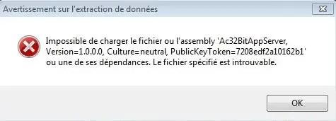 example of Ac32BitAppServer.DLL file error