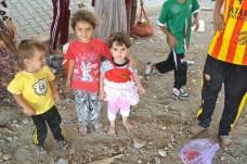 Child Refugees seek shelter under Highway fly-over near Dohuk in the Kurdish region.