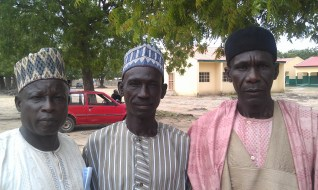Three fathers of missing girls taken from Chibok, Nigeria by Boko Haram.