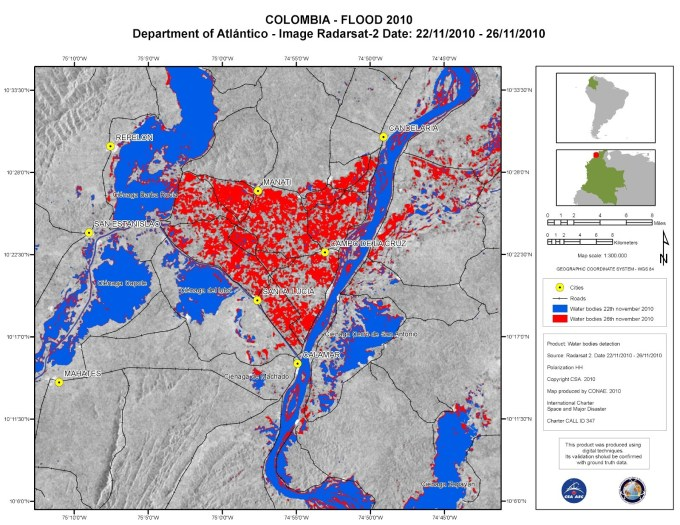 Colombia-flood-map