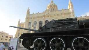During the battle, Fidel Castro himself is said to have fired on an American support vessel from this tank, which as of 2017 is parked in front of the Museum of the Revolution in Havana, Cuba.