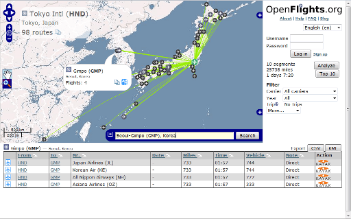 OpenFlights Routes Official Example