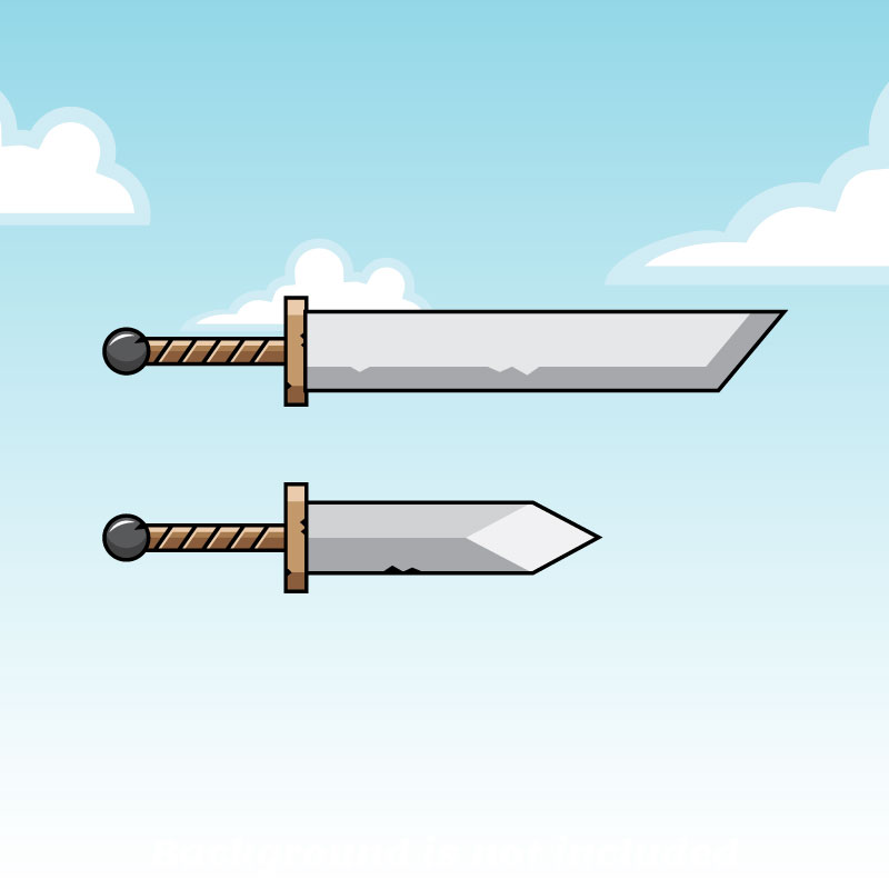 Game Weapon Long And Short Sword Opengameart Org