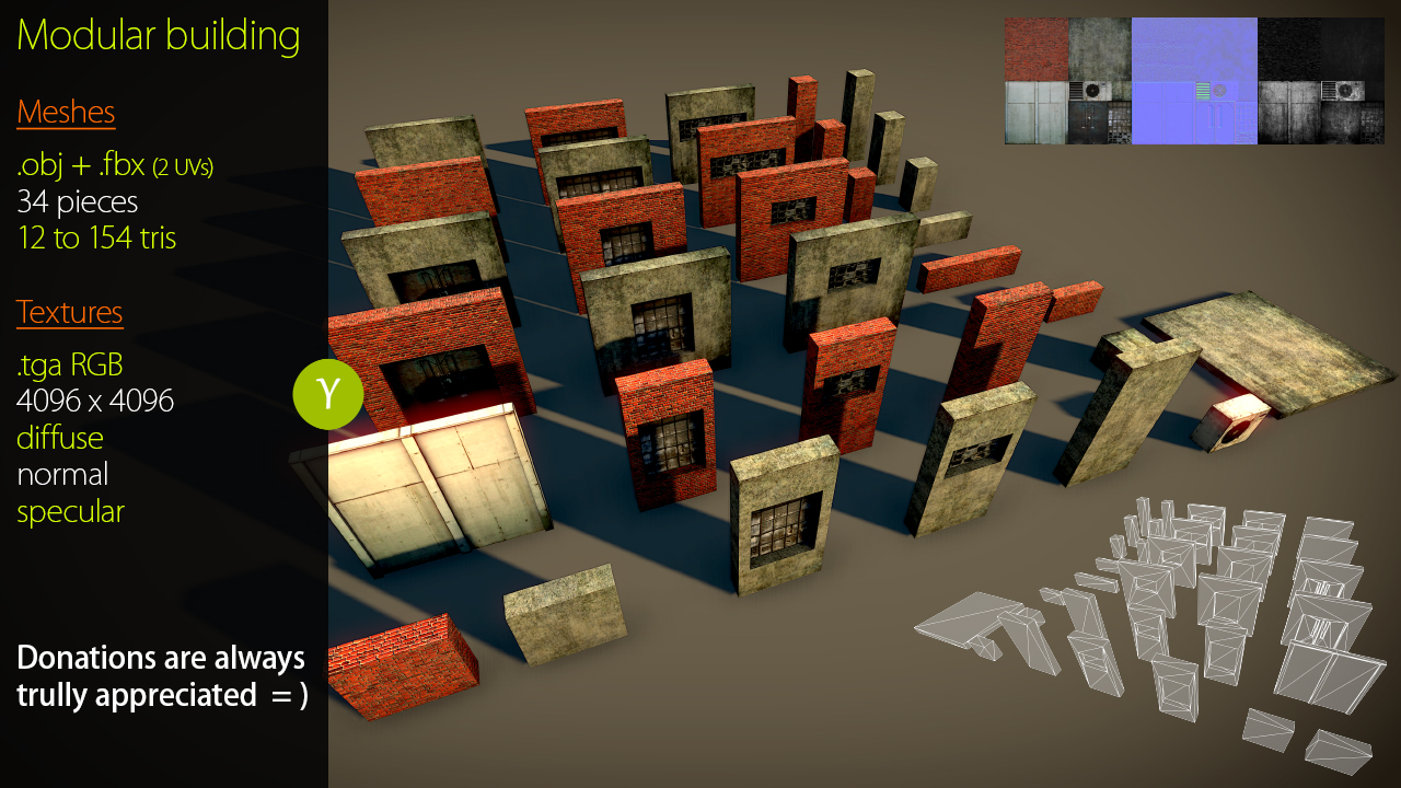 Modular Building Asset Opengameart Org