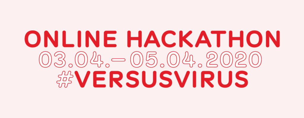 versusvirus online hackathon banner_name and date