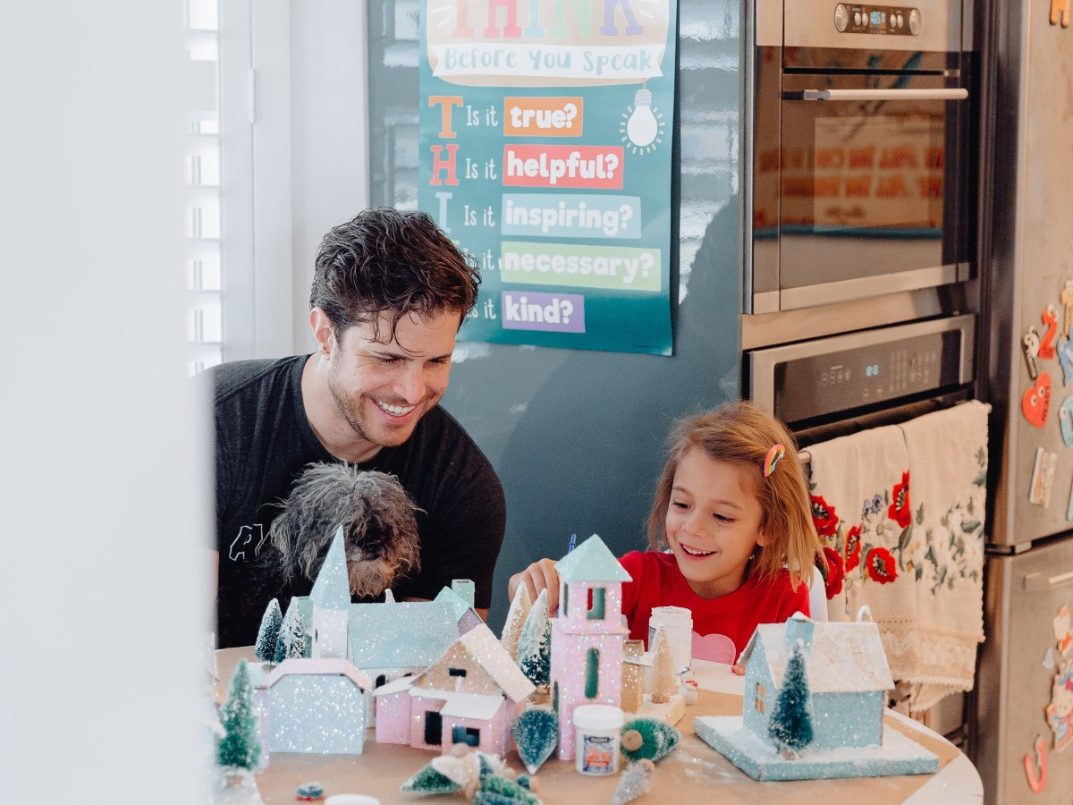 how to make your own vintage putz house Christmas village