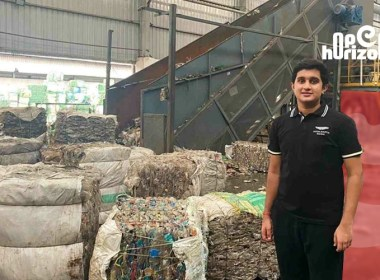 plastic-waste-turning-into-clothing-17-year-old- boy-mixing-in-new-business