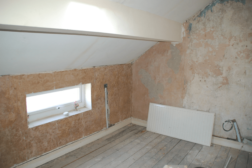 HMO refurb bedroom 2 stripped