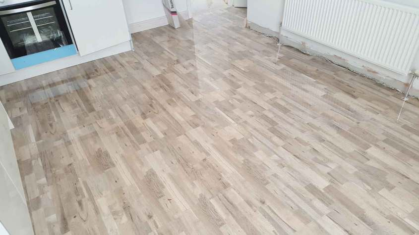 High gloss kitchen floor