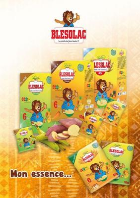 BLESOLAC 50 grams (Plantain, Wheat & Sweet Potato) – instant cereal for babies and young children