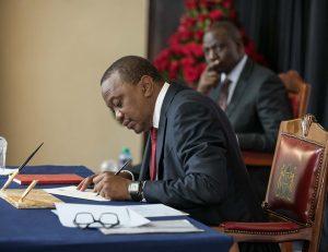 Uhuru Kenyatta Signs Executive Order on Procurement