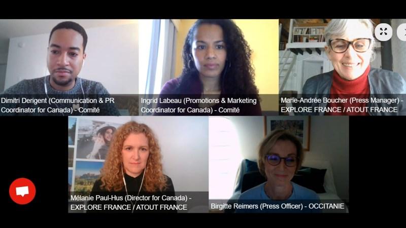 Atout France webinar panel