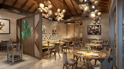 The new Greenhouse restaurant at the Sandals Royal Barbados South Seas Hideaway.