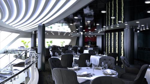 MSC Virtuosa Yacht Club Restaurant.