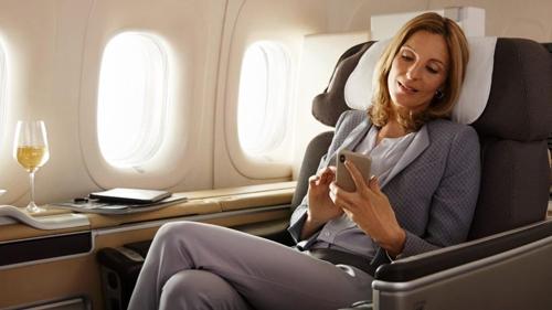 First class on Lufthansa' 747-8i.