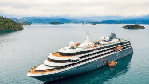 Atlas Ocean Voyages' World Navigator Cruise Ship on water